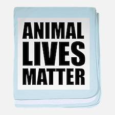 Animal Lives Matter baby blanket