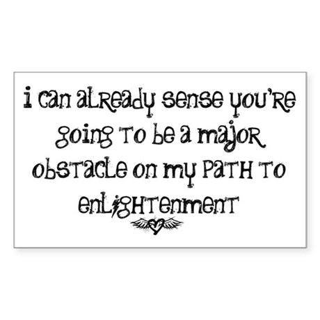 My Path To Enlightenment Rectangle Sticker
