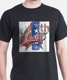 4th of July Ash Grey T-Shirt