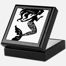 Mermaid silhouette design Keepsake Box