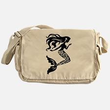 Mermaid silhouette design Messenger Bag