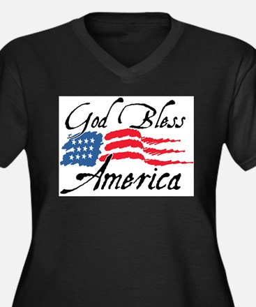 God Bless America v2 Plus Size T-Shirt