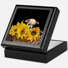 Unique Sunflower Keepsake Box