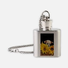 Chihuahua in sunflowers Flask Necklace