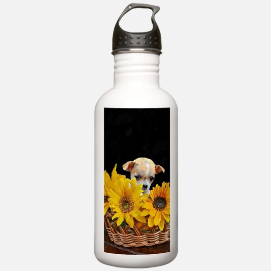 Chihuahua in sunflower Water Bottle