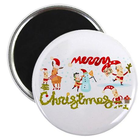 Christmas Elves Magnet
