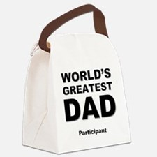 Unique Worlds greatest dad Canvas Lunch Bag