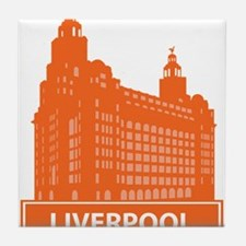 National landmark Liverpool silhouett Tile Coaster
