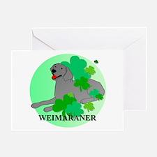 Irish Weimaraner Greeting Card