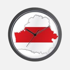 National territory and flag Belarus Wall Clock