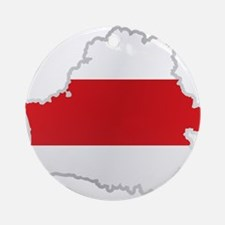 National territory and flag Belarus Round Ornament