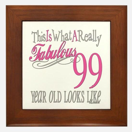 99th Birthday Gift Framed Tile