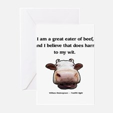 Beef Wit Greeting Cards