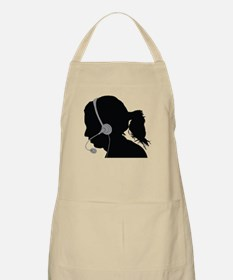 Call center operator with headphones Apron