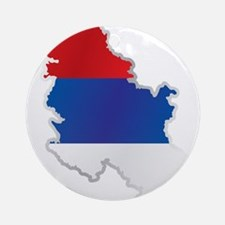 National territory and flag Serbia Round Ornament