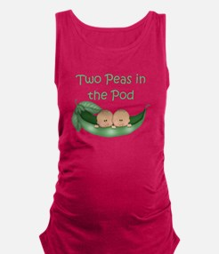 Funny Two peas Maternity Tank Top