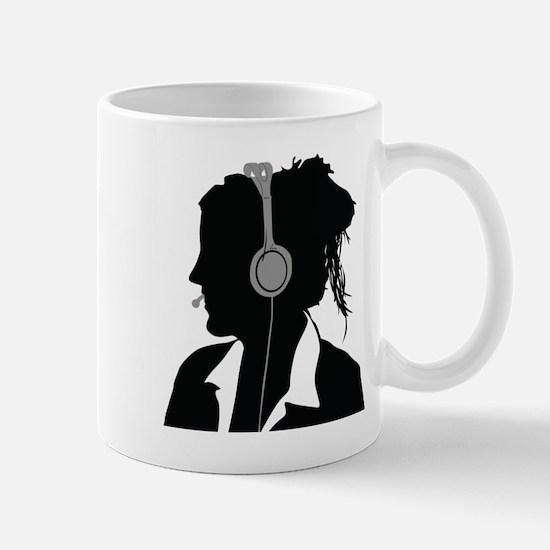 Call center operator with headphones Mugs