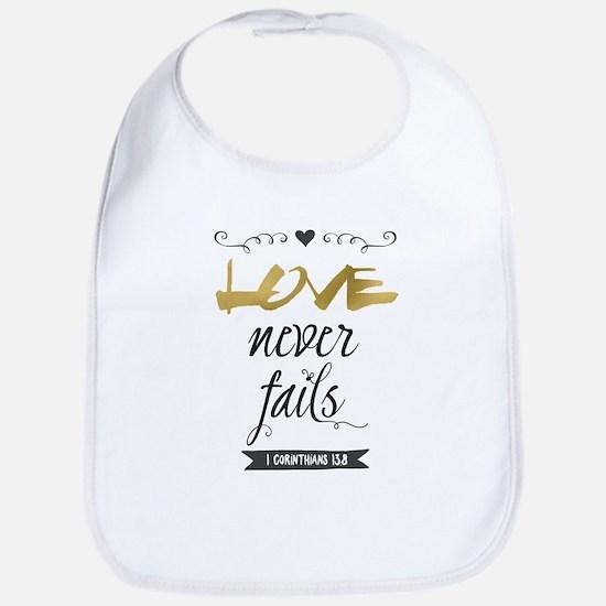 Love Never Fails Bib