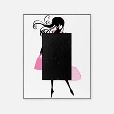 Fashion girl with handbag Picture Frame