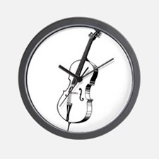Music violin design Wall Clock