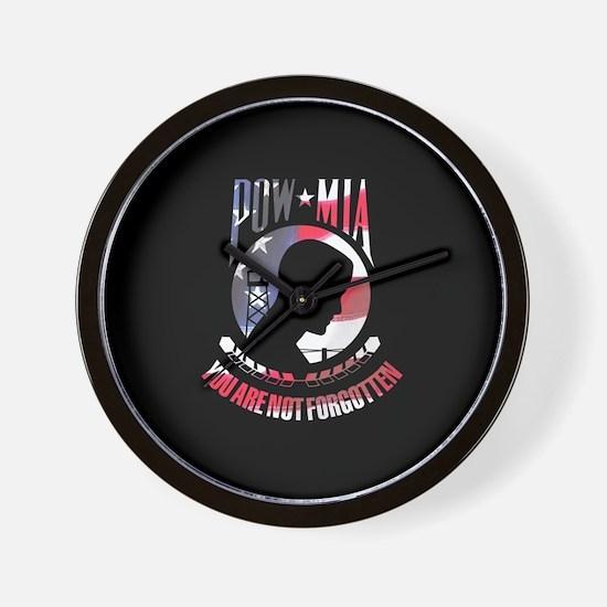 POW MIA USA Wall Clock