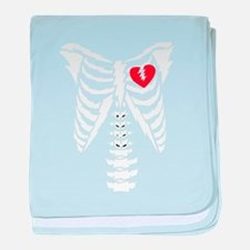 Rib cage with heart design baby blanket