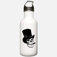 Skull with top hat and Water Bottle