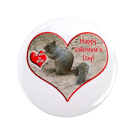 """Helaine's Squirrel 3.5"""" Button"""