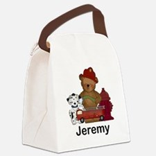 Jeremy's Fire Bear Canvas Lunch Bag