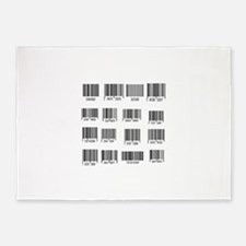 Labels with bar code design 5'x7'Area Rug