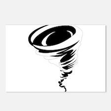 Tornado design art Postcards (Package of 8)