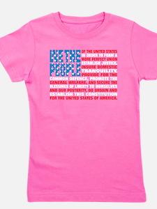 Funny American Girl's Tee