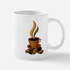 Coffee logo design with beans Mugs