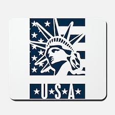 USA travel stamp Mousepad