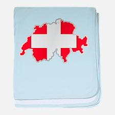 National territory and flag Switzerla baby blanket
