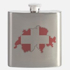 National territory and flag Switzerland Flask