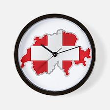 National territory and flag Switzerland Wall Clock
