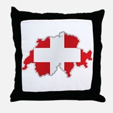 National territory and flag Switzerla Throw Pillow
