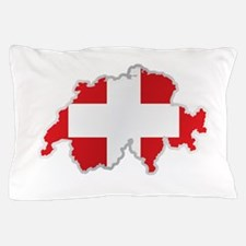 National territory and flag Switzerlan Pillow Case