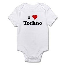 I Love Techno Onesie