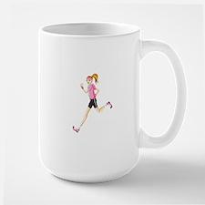 Running sport girl Mugs