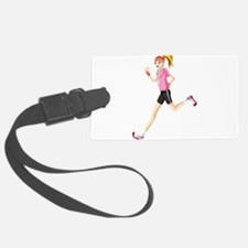 Running sport girl Luggage Tag