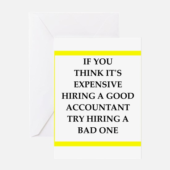 accountant Greeting Cards