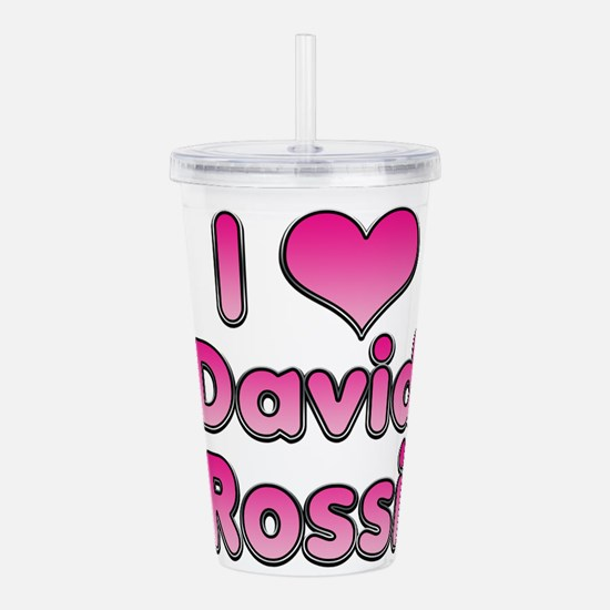 I Heart David Rossi Acrylic Double-wall Tumbler