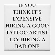 tattoo Tile Coaster