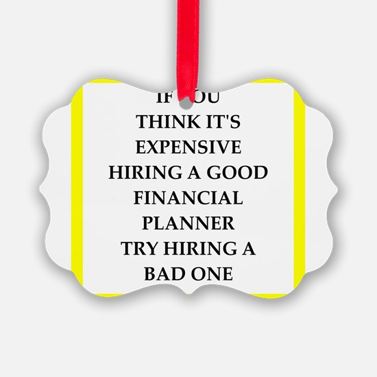 financial planner Ornament