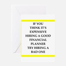 financial planner Greeting Cards