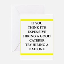 caterer Greeting Cards
