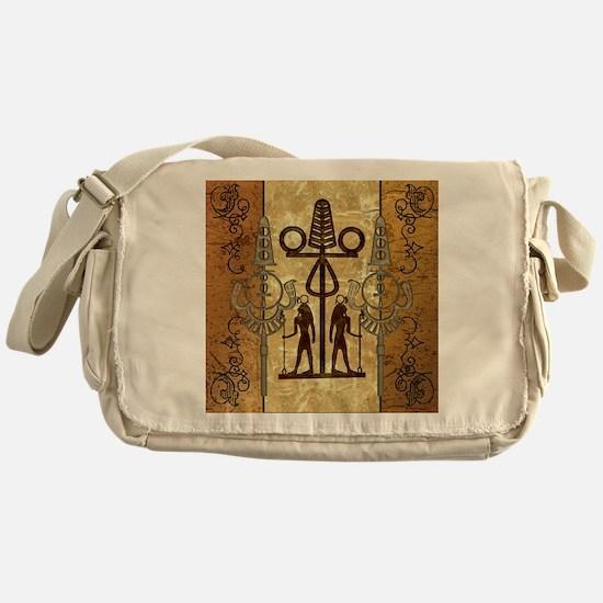 Egypt sign with floral elements Messenger Bag