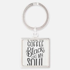 black coffee - 2 Keychains